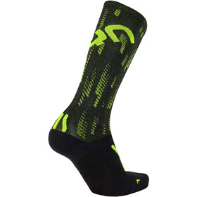 UYN Run Support Chaussettes Homme, black/yellow fluo